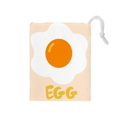Egg Eating Chicken Omelette Food Drawstring Pouches (medium)