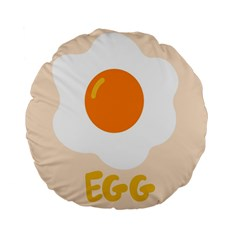 Egg Eating Chicken Omelette Food Standard 15  Premium Flano Round Cushions