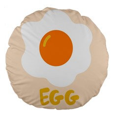 Egg Eating Chicken Omelette Food Large 18  Premium Flano Round Cushions