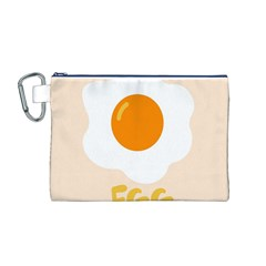 Egg Eating Chicken Omelette Food Canvas Cosmetic Bag (m)