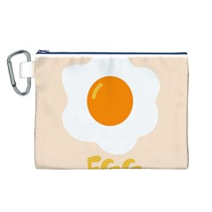 Egg Eating Chicken Omelette Food Canvas Cosmetic Bag (l)