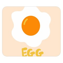 Egg Eating Chicken Omelette Food Double Sided Flano Blanket (small)