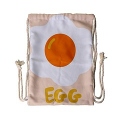 Egg Eating Chicken Omelette Food Drawstring Bag (small)