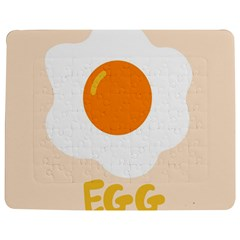 Egg Eating Chicken Omelette Food Jigsaw Puzzle Photo Stand (Rectangular)