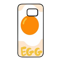 Egg Eating Chicken Omelette Food Samsung Galaxy S7 Edge Black Seamless Case