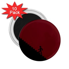 Walking Stairs Steps Person Step 2 25  Magnets (10 Pack)