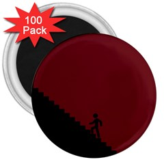 Walking Stairs Steps Person Step 3  Magnets (100 Pack)