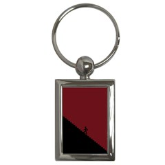 Walking Stairs Steps Person Step Key Chains (rectangle)