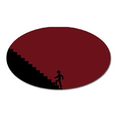Walking Stairs Steps Person Step Oval Magnet