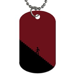Walking Stairs Steps Person Step Dog Tag (One Side)