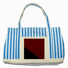 Walking Stairs Steps Person Step Striped Blue Tote Bag