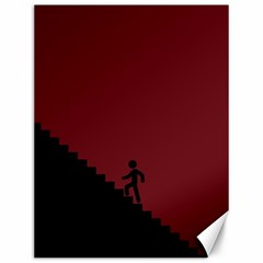 Walking Stairs Steps Person Step Canvas 12  x 16
