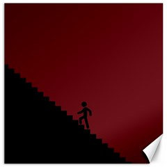 Walking Stairs Steps Person Step Canvas 20  X 20