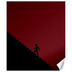 Walking Stairs Steps Person Step Canvas 20  X 24
