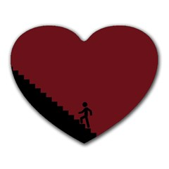 Walking Stairs Steps Person Step Heart Mousepads