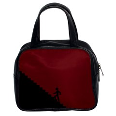 Walking Stairs Steps Person Step Classic Handbags (2 Sides)