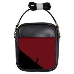 Walking Stairs Steps Person Step Girls Sling Bags