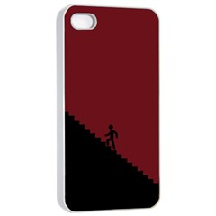 Walking Stairs Steps Person Step Apple Iphone 4/4s Seamless Case (white)