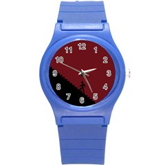 Walking Stairs Steps Person Step Round Plastic Sport Watch (s)