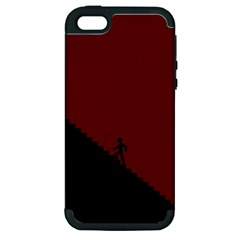 Walking Stairs Steps Person Step Apple iPhone 5 Hardshell Case (PC+Silicone)