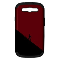 Walking Stairs Steps Person Step Samsung Galaxy S Iii Hardshell Case (pc+silicone)