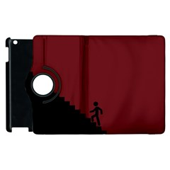 Walking Stairs Steps Person Step Apple Ipad 3/4 Flip 360 Case
