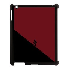 Walking Stairs Steps Person Step Apple Ipad 3/4 Case (black)