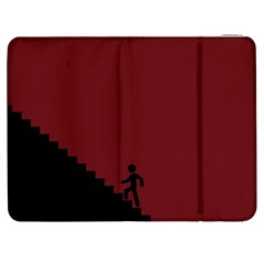 Walking Stairs Steps Person Step Samsung Galaxy Tab 7  P1000 Flip Case