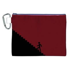 Walking Stairs Steps Person Step Canvas Cosmetic Bag (XXL)