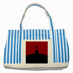 Baby Groot Guardians Of Galaxy Groot Striped Blue Tote Bag