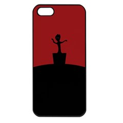 Baby Groot Guardians Of Galaxy Groot Apple Iphone 5 Seamless Case (black)