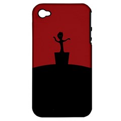 Baby Groot Guardians Of Galaxy Groot Apple iPhone 4/4S Hardshell Case (PC+Silicone)