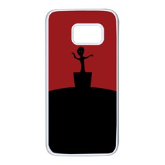 Baby Groot Guardians Of Galaxy Groot Samsung Galaxy S7 White Seamless Case