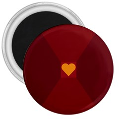 Heart Red Yellow Love Card Design 3  Magnets