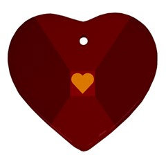 Heart Red Yellow Love Card Design Ornament (heart)