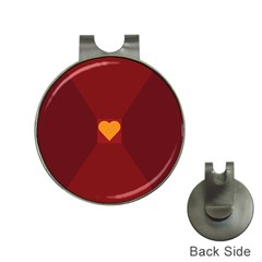 Heart Red Yellow Love Card Design Hat Clips With Golf Markers