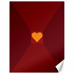 Heart Red Yellow Love Card Design Canvas 12  x 16