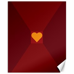 Heart Red Yellow Love Card Design Canvas 16  x 20