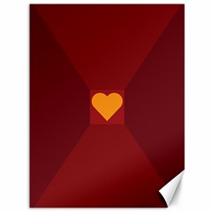 Heart Red Yellow Love Card Design Canvas 36  x 48