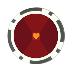 Heart Red Yellow Love Card Design Poker Chip Card Guard
