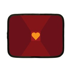 Heart Red Yellow Love Card Design Netbook Case (Small)