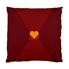 Heart Red Yellow Love Card Design Standard Cushion Case (Two Sides)