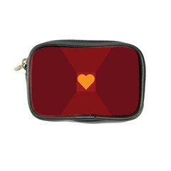 Heart Red Yellow Love Card Design Coin Purse