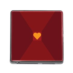 Heart Red Yellow Love Card Design Memory Card Reader (square)