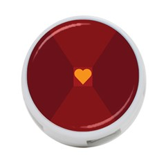 Heart Red Yellow Love Card Design 4-Port USB Hub (Two Sides)