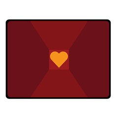 Heart Red Yellow Love Card Design Fleece Blanket (small)