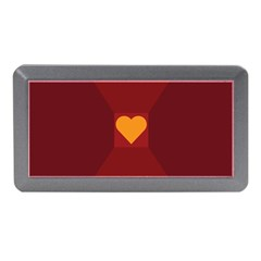 Heart Red Yellow Love Card Design Memory Card Reader (Mini)