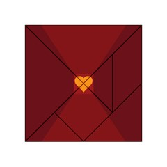 Heart Red Yellow Love Card Design Acrylic Tangram Puzzle (4  x 4 )