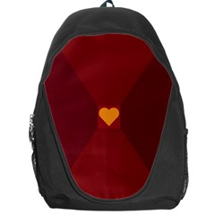 Heart Red Yellow Love Card Design Backpack Bag