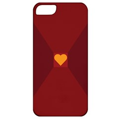 Heart Red Yellow Love Card Design Apple Iphone 5 Classic Hardshell Case